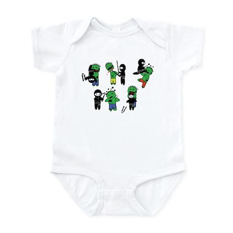 Ninjas vs Zombies Infant Bodysuit