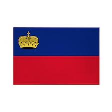 Flag of Liechtenstein Rectangle Magnet