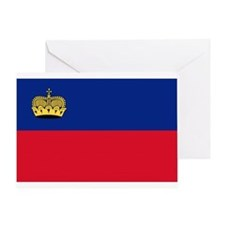 Flag of Liechtenstein Greeting Card