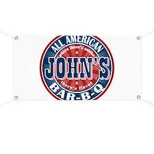 John's All American BBQ Banner