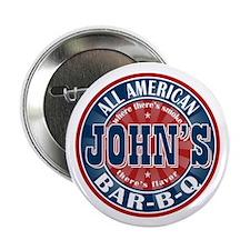 "John's All American BBQ 2.25"" Button (100 pack)"