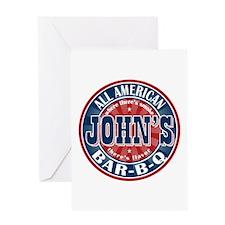 John's All American BBQ Greeting Card