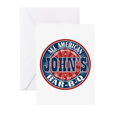 John's All American BBQ Greeting Cards (Pk of 10)