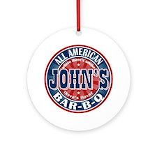 John's All American BBQ Ornament (Round)