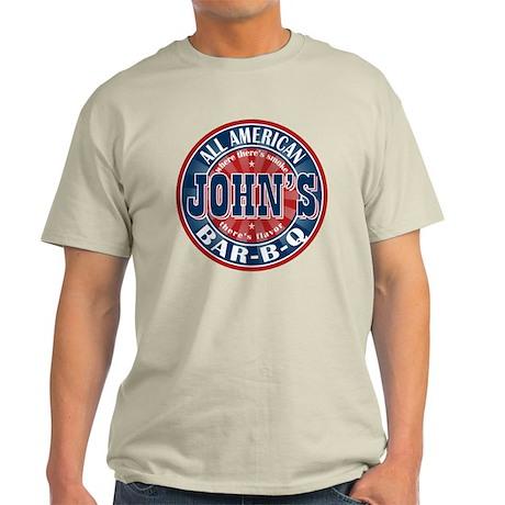 John's All American BBQ Light T-Shirt