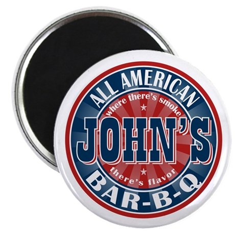 "John's All American BBQ 2.25"" Magnet (100 pack)"
