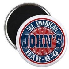 "John's All American BBQ 2.25"" Magnet (10 pack)"