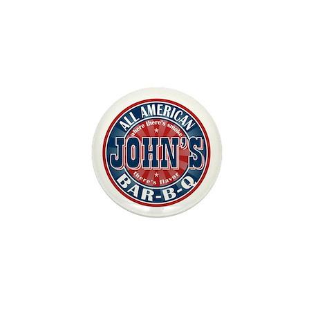 John's All American BBQ Mini Button