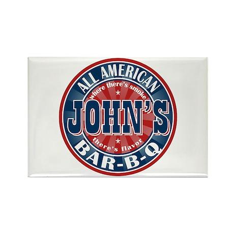 John's All American BBQ Rectangle Magnet (100 pack