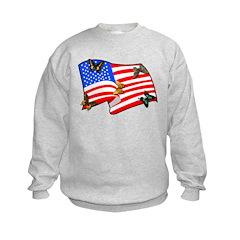 American Flag Butterflies Sweatshirt