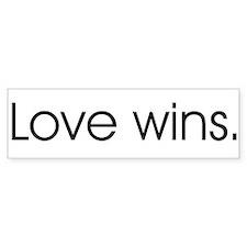 Love wins Bumper Bumper Sticker