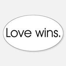 Love wins Oval Bumper Stickers