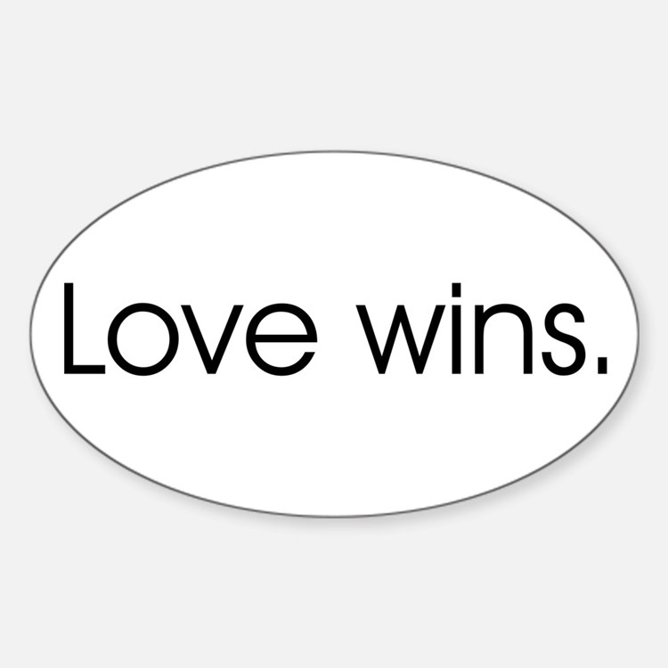 Love wins Oval Decal