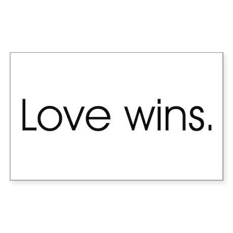 Love wins Rectangle Sticker