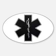 Star of Life(BW) Oval Decal