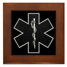 Star of Life(BW) Framed Tile