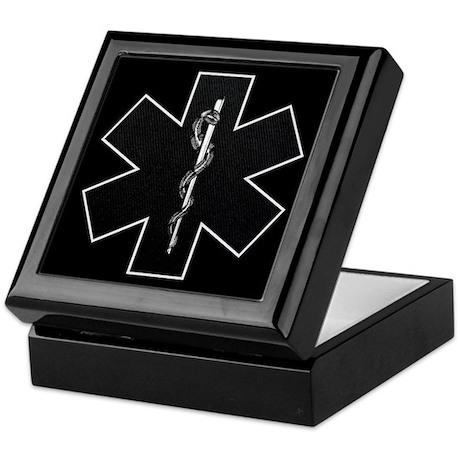 Star of Life(BW) Keepsake Box
