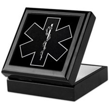 Star of Life(BW) Keepsake Box