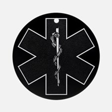 Star of Life(BW) Ornament (Round)