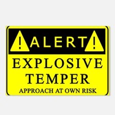 Explosive Temper Alert Postcards (Package of 8)