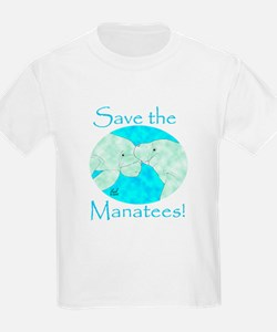 Save the Manatees Kids T-Shirt