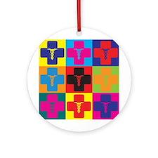 Rheumatology Pop Art Ornament (Round)