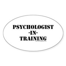 Psychologist In Training Oval Decal