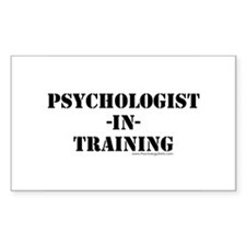 Psychologist In Training Rectangle Decal