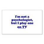 Psychologist On TV Rectangle Sticker 10 pk)