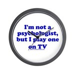 Psychologist On TV Wall Clock