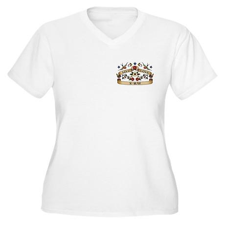 Live Love X-Ray Women's Plus Size V-Neck T-Shirt