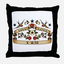 Live Love X-Ray Throw Pillow