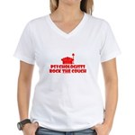 Rock The Couch Women's V-Neck T-Shirt