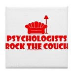 Rock The Couch Tile Coaster