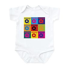 Records Pop Art Infant Bodysuit