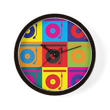 Records Pop Art Wall Clock