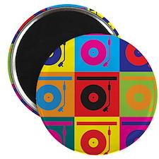 Records Pop Art Magnet
