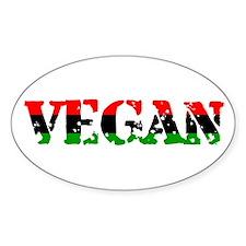 Vegan Revolution Oval Decal