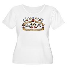 Live Love Weight Lifting T-Shirt