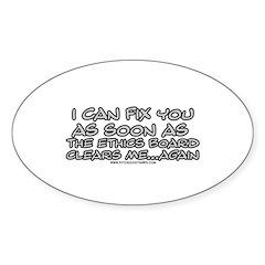 Ethics Board Oval Sticker (10 pk)