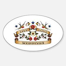 Live Love Weddings Oval Decal