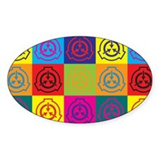 Radiation Therapy Pop Art Oval Decal