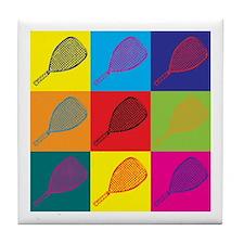 Racquetball Pop Art Tile Coaster