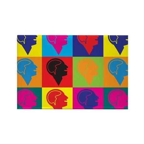 Psychology Pop Art Rectangle Magnet (10 pack)