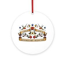 Live Love Veterinary Medicine Ornament (Round)