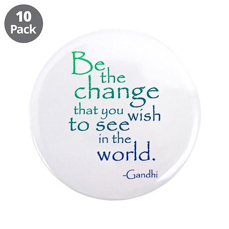 """Gandhi 3.5"""" Button (10 pack)"""