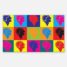 Psychiatry Pop Art Rectangle Sticker 10 pk)