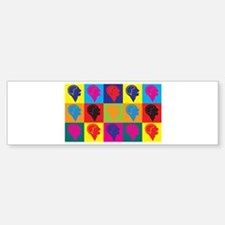 Psychiatry Pop Art Bumper Bumper Bumper Sticker