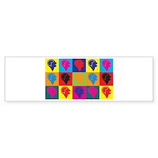 Psychiatry Pop Art Bumper Car Sticker