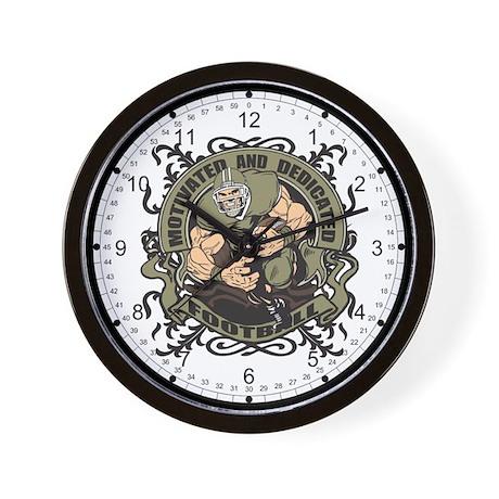 Motivated Football Wall Clock